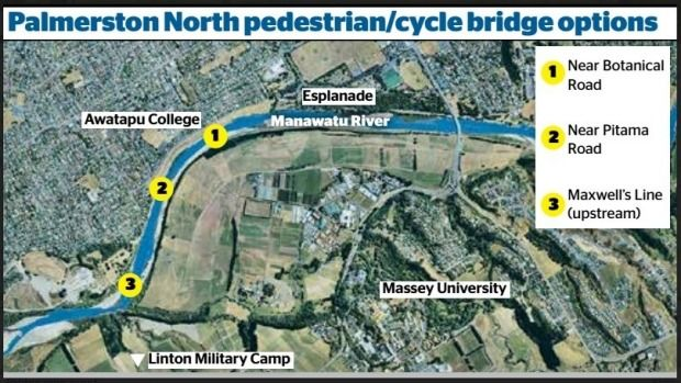 Three sites near Botanical Rd, near Pitama Rd or upstream from Maxwells Line have been identified for the new pedestrian ...