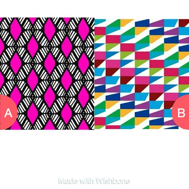 Which pattern vote on Wishbone and follow me smiley282