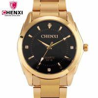 CHENXI Marca Famosa Homens Relógio De Luxo de Ouro de Aço Pulseiras de Relógio de Quartzo Relógios de Moda Masculina Relógios Hot relógios de Pulso Da Marca Presente NATATE