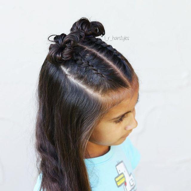 Hairstyles | Hair Ideas | Hairstyles Ideas | Braided Hair | Braided Hairstyles | Braids for Girls | Braids for Little Girls | Toddler Hairstyles | Toddler Hair Ideas | Braids | Half-up Style | Dutch Braids | Messy Buns