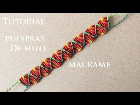 pulseras de hilo anchas faciles de hacer friendship bracelets macrame - YouTube