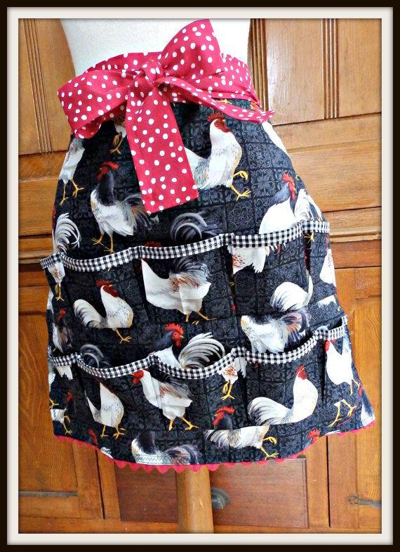 Women's Egg Gathering Apron Chickens Eggs by OliveElizabethsApron