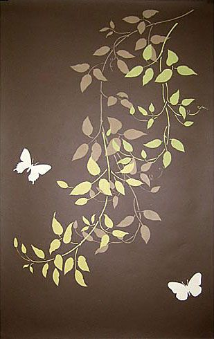 Cutting Edge Stencils - Budding Clematis Stencil kit 3pc