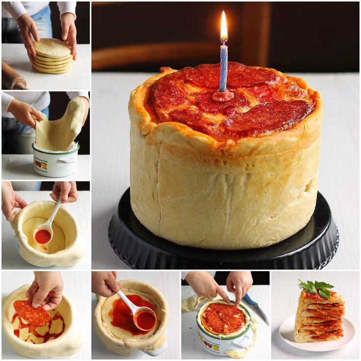 Pizza Cake! Better have for my bday before turn 45!