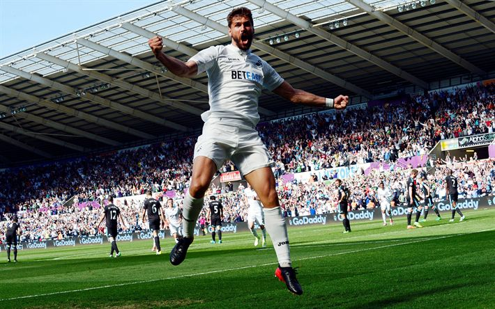 Download wallpapers Fernando Llorente, 4k, goal, footballers, Premier League, soccer