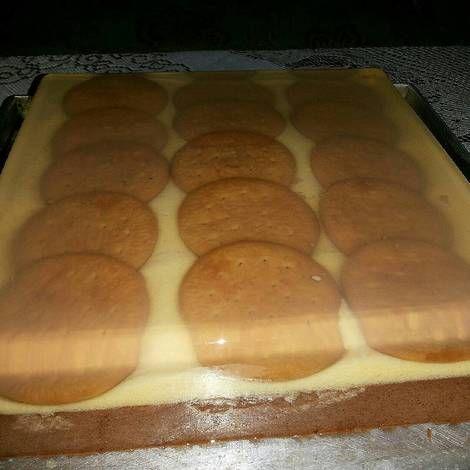 Puding 3 lapis (regal,butter,coklat busa)