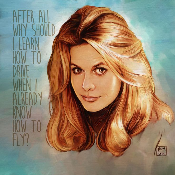 The very gorgeous Elizabeth Montgommery as Sam from Bewitched This is her quote from the show.