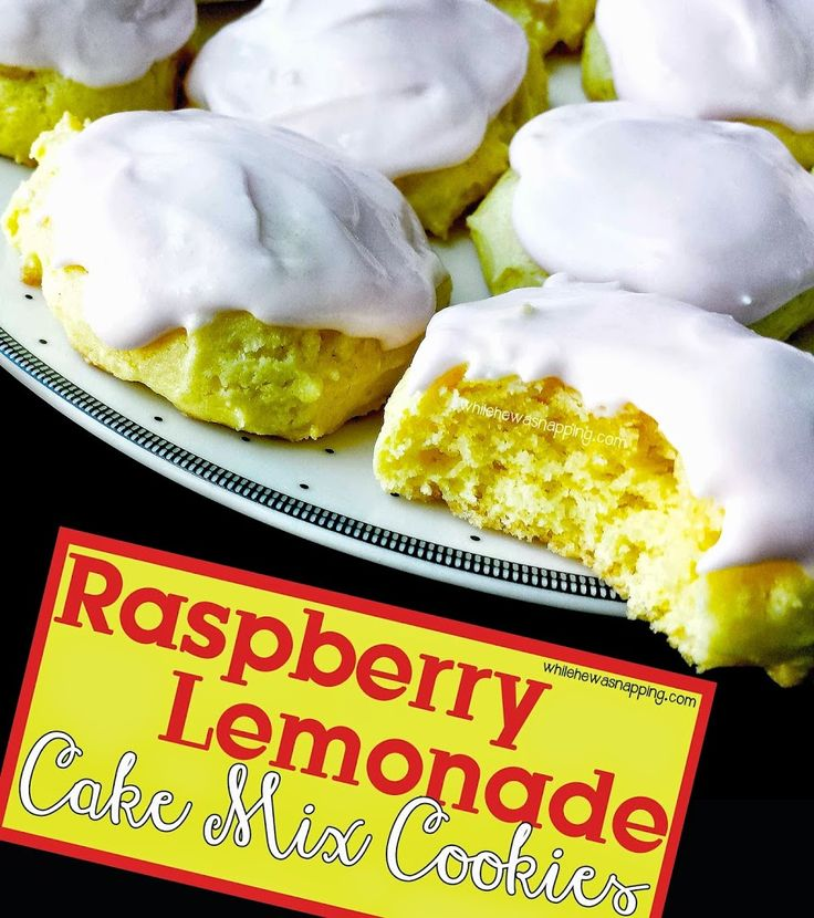 Raspberry Lemonade Cookies - From a cake mix!  Super easy, soft and delicious.  Perfect for summer time!