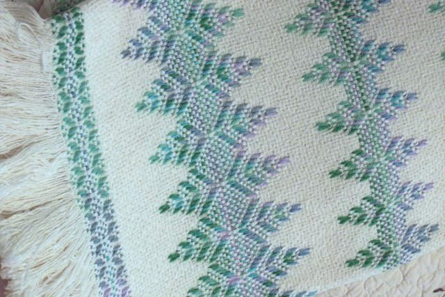 Original Swedish Weave Tree Design on Monk's cloth....the design most people use to learn the handcraft and was the first one I made. Sandra