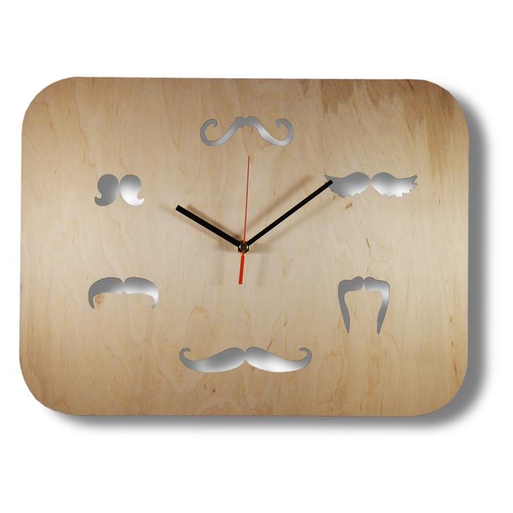 Clock Mustache Time / Zegar Czas na wąsy