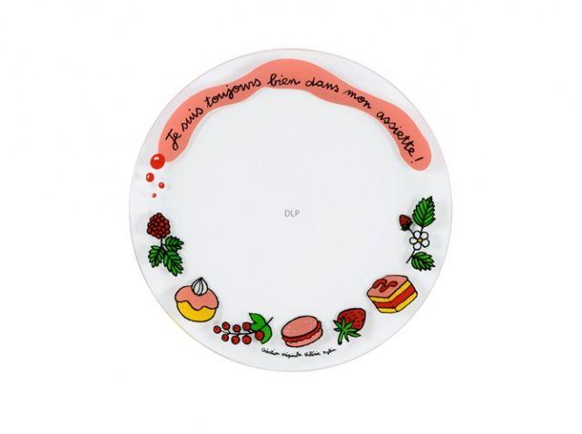 """12 Assiettes à dessert """"Je suis toujours bien dans mon assiette"""" - DLP - Valérie Nylin"""