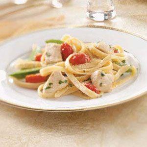 Chicken & Vegetable Alfredo Recipe | Taste of Home Recipes