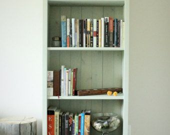 Wooden Bookcase. Tall Bookcase. Skinny Bookcase. by TRUECONNECTION