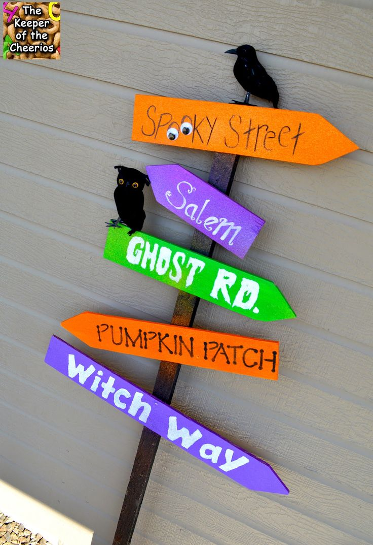 Diy halloween ghost3 - Halloween Yard Sign Made With Scrap Wood