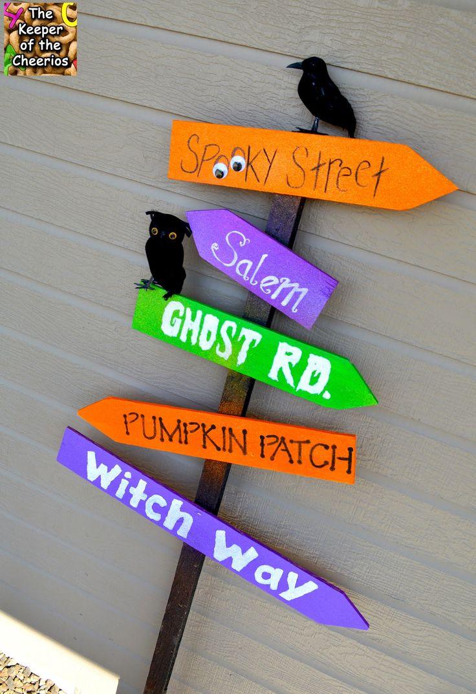 Wooden halloween yard decorations - Halloween Yard Sign Made With Scrap Wood