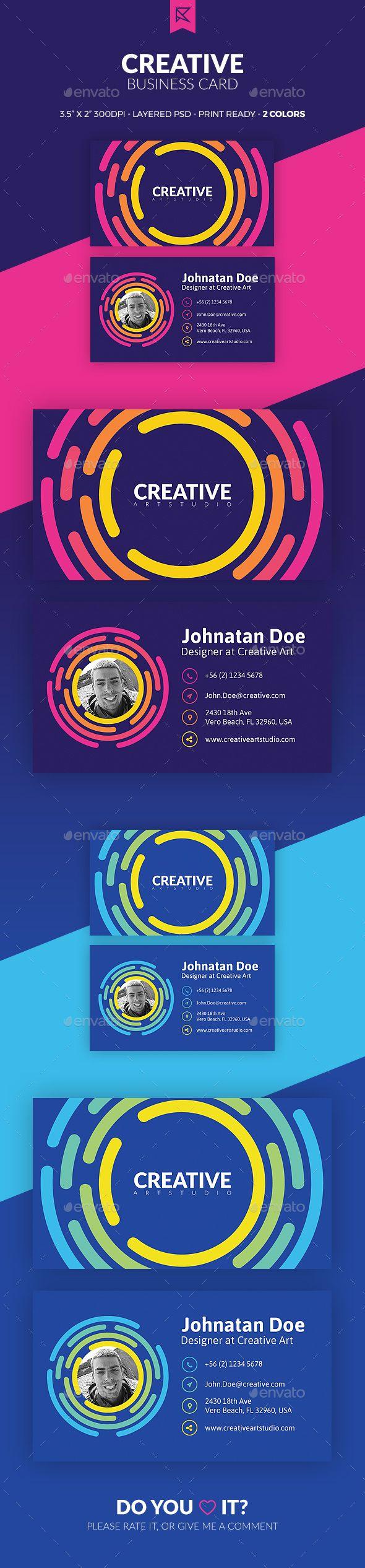 Creative Business Card Design Template PSD