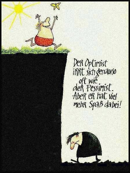 The optimist und the pessimist..♡