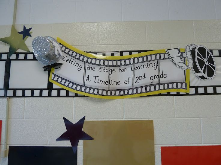 Hollywood Theme Classroom | ... Hollywood theme website. I added the top hat, sunglasses, and white