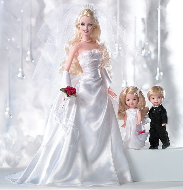 David's Bridal Eternal™ Barbie® Doll | Barbie Collector. Little flower girl & ring bearer are so cute!