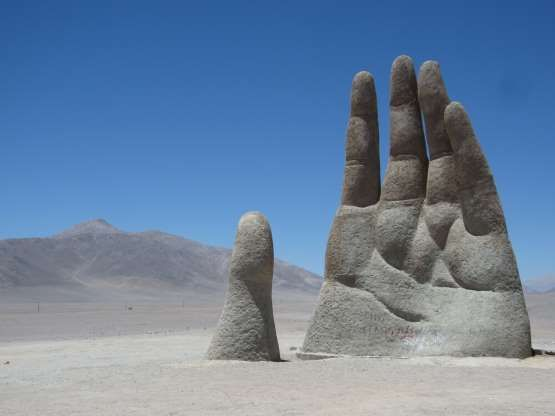 Located in the middle of Chile s Atacama desert this oddball work of art is the