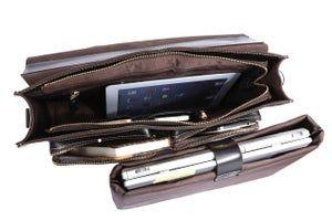 Handmade Superior Leather Briefcase Messenger 14″ 15″ Laptop / 13″ 15″ MacBook Bag (n67-3)