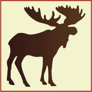 moose stencil, moose stencils, animal stencils, wall stencils