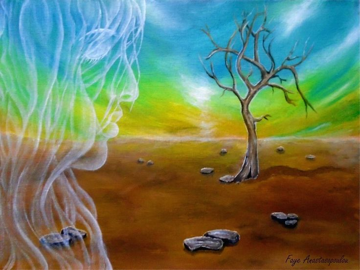Painting, ,fantasy,scene,landscape,nature,tree,sunset,sunrise,sky,angel,fairy,spirit,face,girl,woman,feminine,female,long,hair,figure,psychedelic,picturesque,whimsical,vibrant,vivid,colorful,blue,brown,impressive,cool,beautiful,powerful,atmospheric,celestial,mystical,dreamy,contemporary,imagination,surreal,figurative,modern,breath of an angel, fine,oil,wall,art,images,home,office,decor,artwork,modern,items,ideas,for sale,redbubble