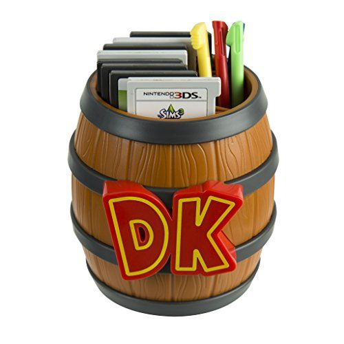 PDP Donkey Kong Barrel Game Card Storage - Nintendo 2DS, 3DS >> Officially licensed by Nintendo Holds up to 8 Nintendo 3DS or Nintendo DS Game Cards