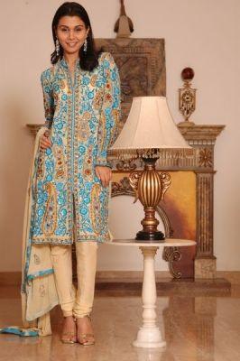 Designer Jacket Style Salwar Kameez With Embroidery And Sequins.