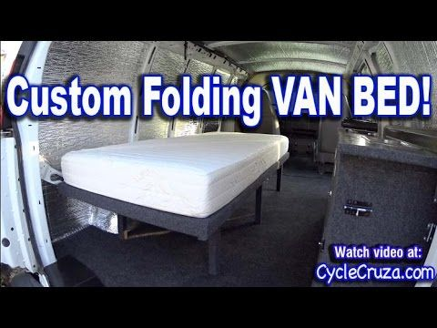 Bug Out Camper Van Build Part 4 Folding Bed Bwood Rv Mattress Re