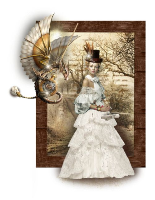 """brillantrose: """" Heel Trained by fm3happy ❤ liked on Polyvore TUBES FEMMES / Epifanías / Sunny Set-Brown Wooden Frame / white skirt - Download - 4shared - The-Helsing Hatter / SteampunkDragon~ironshod~Sassydeb.png / shadow blur 80pct / neamisra's..."""