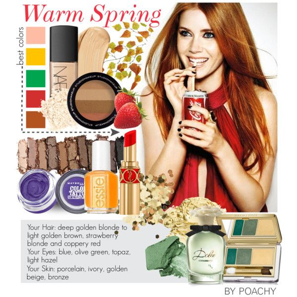 Warm Spring. by poachy on Polyvore featuring beauty, Estée Lauder, Urban Decay, Maybelline, NARS Cosmetics, Topshop, Yves Saint Laurent, H&M, Laura Mercier and Dolce&Gabbana