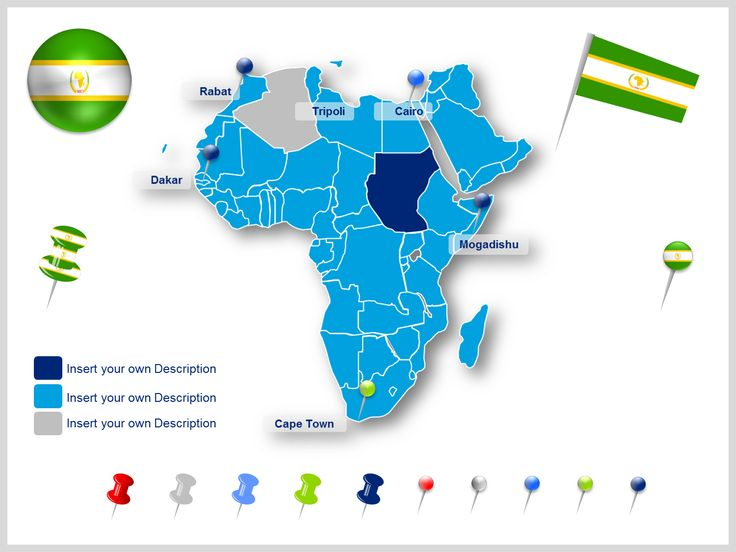 15 best editable powerpoint africa map templates images on africa map templates toneelgroepblik Images