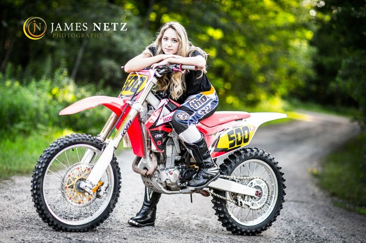 High School Senior Portraits (c) James Netz Photography - Motorcross bike girl senior shoot
