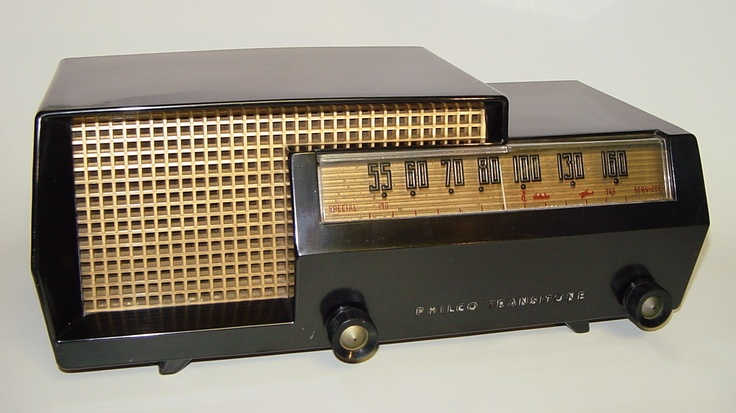 Philco Model 53-563 Split-Level Table Radio (1953)... You can hear the police radio band through this one.