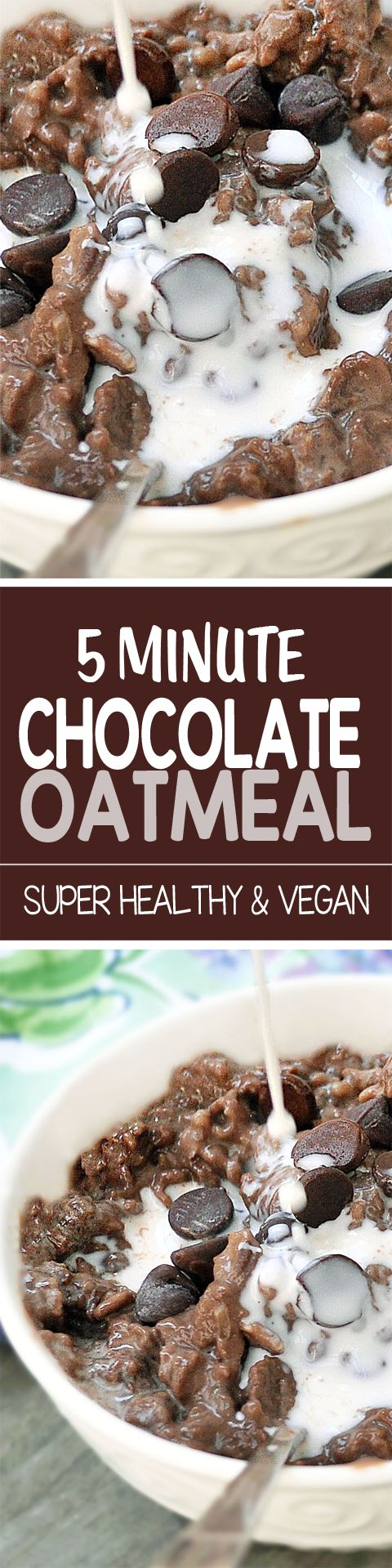 I make this chocolate oatmeal at least once a week for breakfast