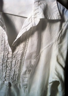 Saving the cute white shirt (with yellow underarm stains) from the dumpster.
