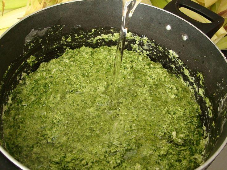 corn, cilantro and oil dough