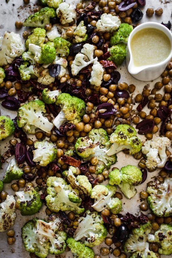 Roasted Cauliflower and Chickpea Salad | edibleperspective.com