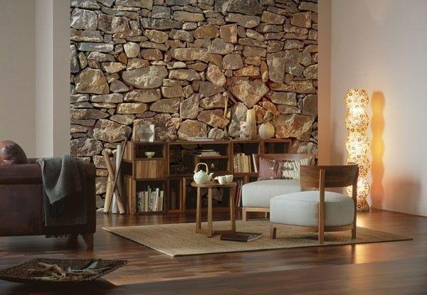AuBergewohnlich Steinwand Wohnzimmer: Die Dekorativen Natursteine Gewinnen Immer Mehr An  Popularität Als Wandverkleidung. Diese Verdanken Sie Ihrem Natürlichen  Charme, Den