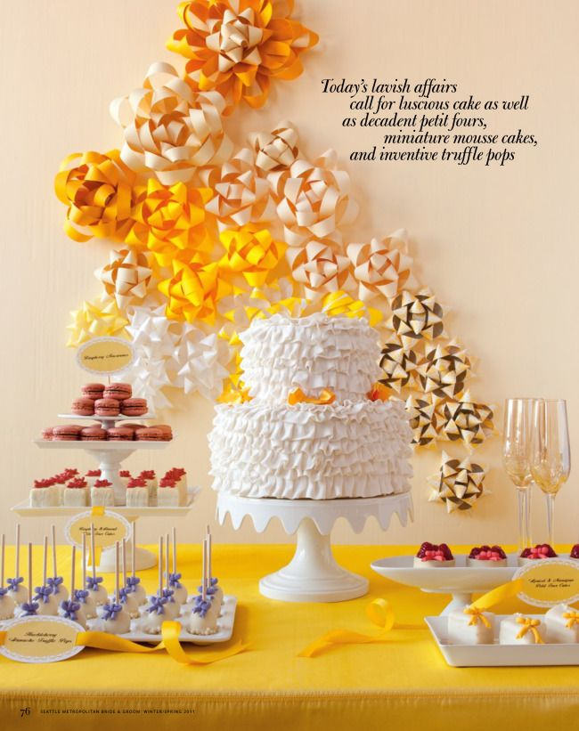 pretty backdrop and dessert table
