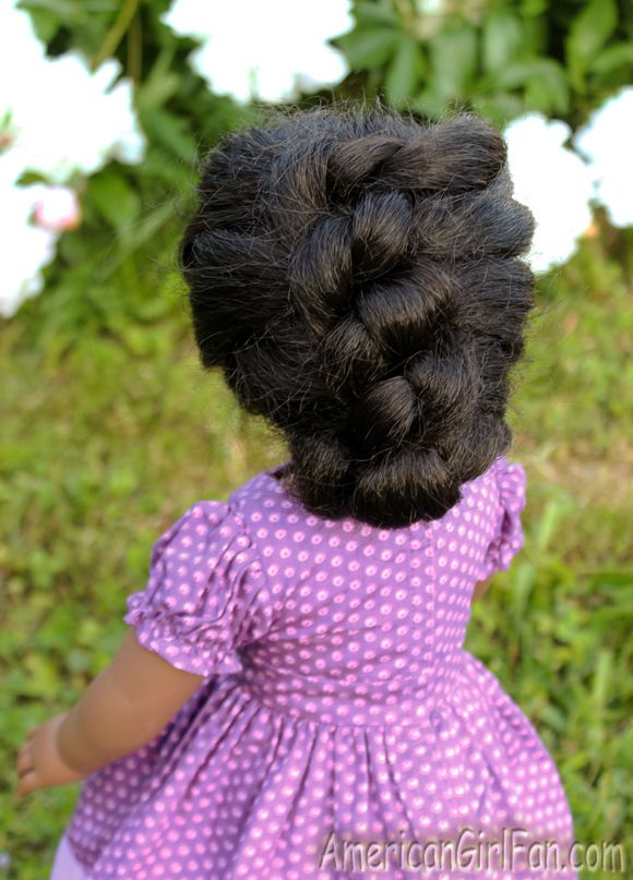 Doll Hairstyle: Easy Knotted Updo!
