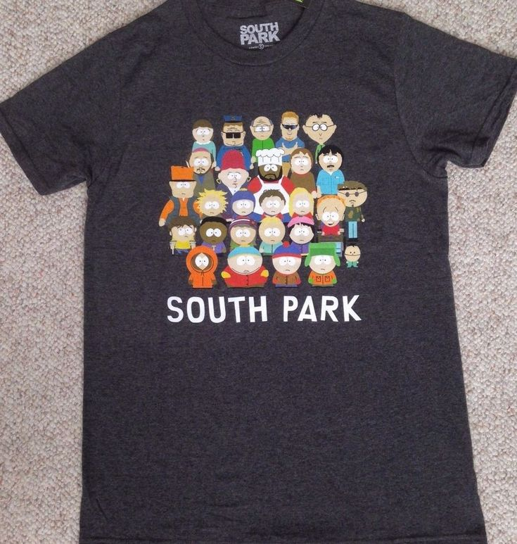 New SOUTH PARK T-SHIRT Dark Charcoal Gray All Characters Comedy Central TV Show #ComedyCentral #GraphicTee
