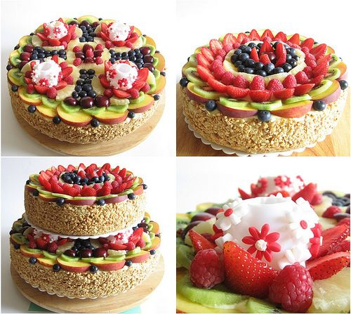 crostata cake with fruits