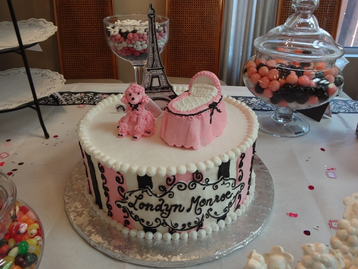 parisian theme baby shower cake cakes pinterest baby shower