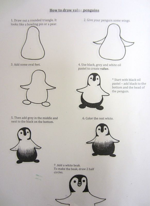 How to Draw a Penguin using Value