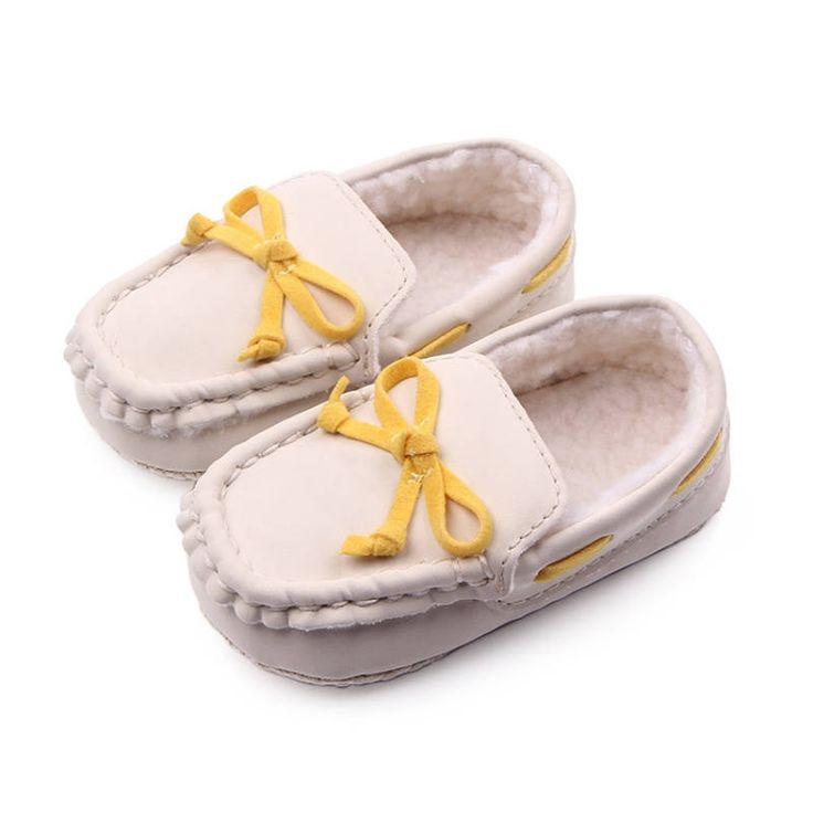 Новый новорожденная девочка мальчик первых пешеходов бездельников тапочки Tooddler малыш скольжения - на внутренние детская обувь новый