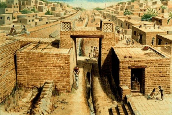 Mohenjo – daro and Harappa were the first cities on the banks of the River Indus