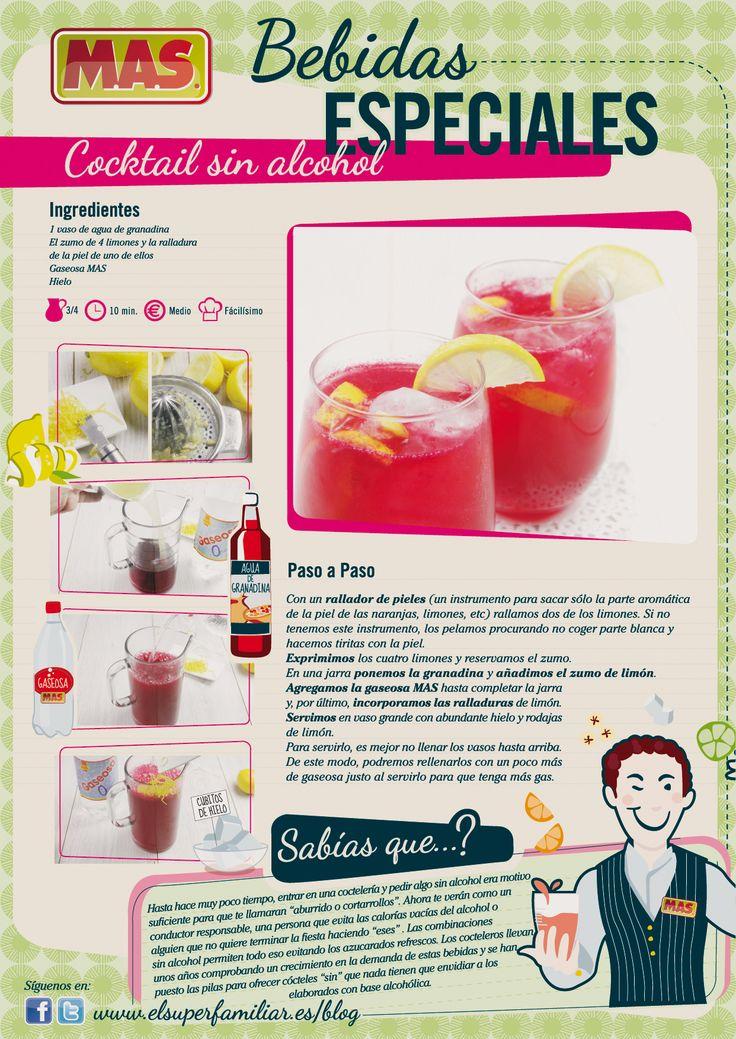 Cocktail sin alcohol, una bebida para todos los públicos    #recetas #coctel #cocktail #infografias #inforecetas