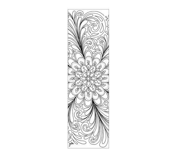lesezeichen flower illusion bücher ausmalseiten von